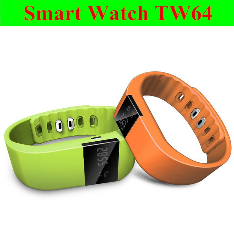 Newest TW64 Smartband Smart sport bracelet Waterproof Wristband Fitness Sleep Tracker Bluetooth4.0 ForiPhone IOS Samsung Android(China (Mainland))