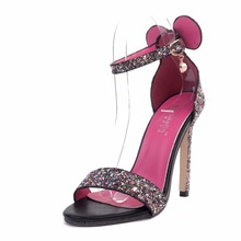 Buy 2017 Summer Europe Sexy Bling Small Ears Sandals Concise Women Peep Toe Sandals Woman Casual Sandals High Heels Sandals for $34.45 in AliExpress store