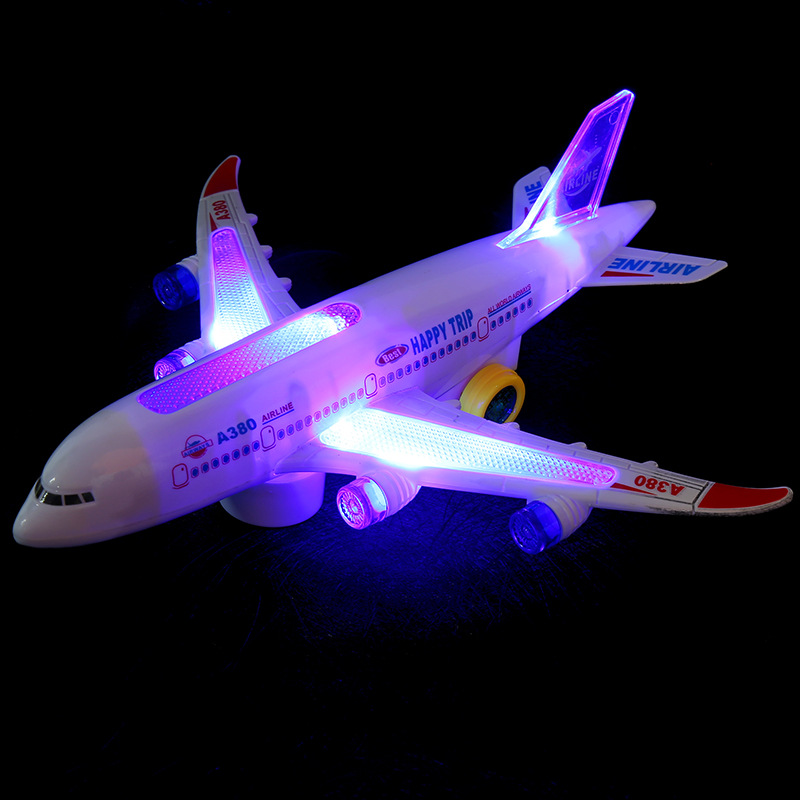 Airbus A380 passenger plane toy plane electric universal music light children's stunning model airplane(China (Mainland))