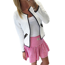 1 PC Women Girls Autumn Winter Long Sleeve Three Colors Lattice Tartan Cardigan Top Coat Jacket Outwear Blouse
