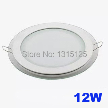 Modern design with glass 12W LED ceiling recessed downlight / Round panel light kitchen light 160mm 1pc/lot free shipping<br><br>Aliexpress