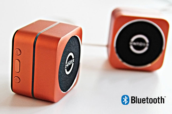 Free Shipping New Orange Wireless Bluetooth 2.1+EDR Speaker With TF Card For iPhone/iPad/Cellphone/MP3/MP4