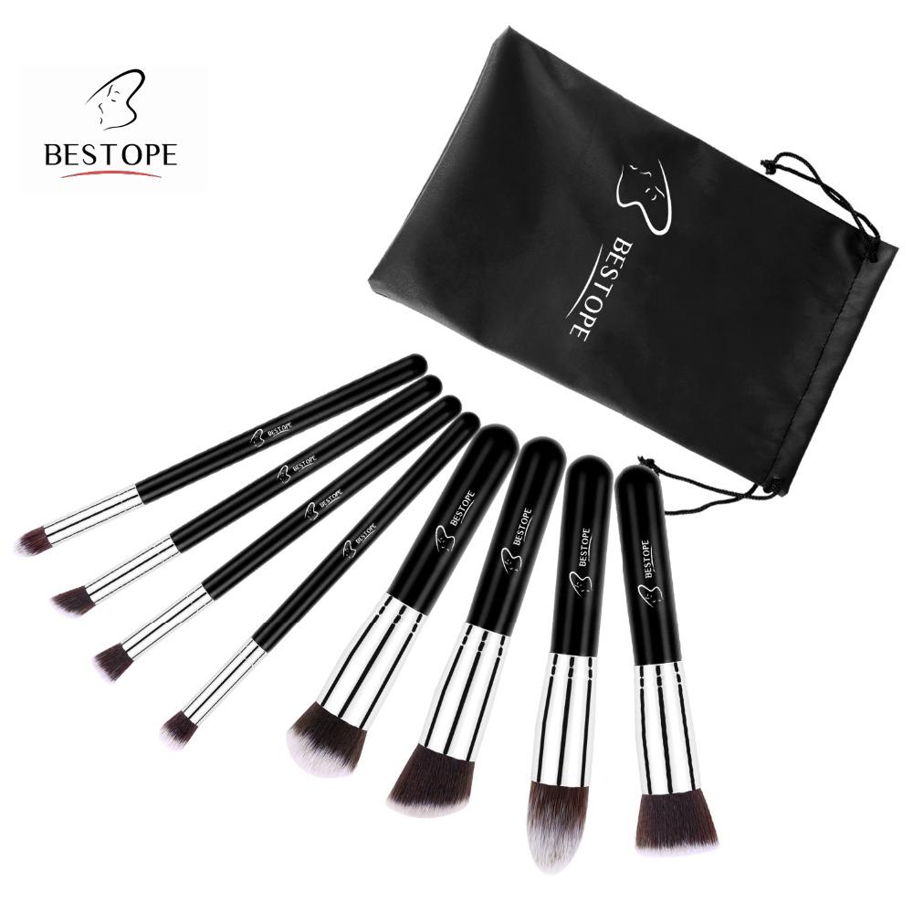 BESTOPE 8PCS Maquiagem Makeup Brushes Set High Quality Make up Brush tool Set Professional Foundation Blush Contour Brushes Kit(China (Mainland))