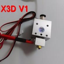 xc3dmaker 2016 Reprap X3D V1.0/E3D V6 12V 0.4mm Single Nozzle 1.75mm filament 3D Printer Head/Extruder Extra 0.3mm Nozzle