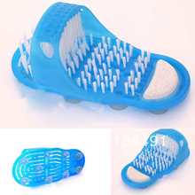 Shower Feet Cleaner Scrubber Bath Brush Massager Bristles Easy Health Slipper 6259 ZO3y6