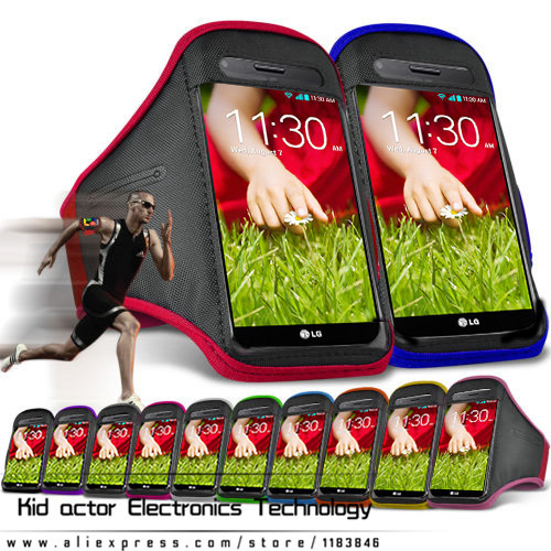 Sweatproof Soft Armband Running bag Sports case Cover Gym Arm Band case for LG G2