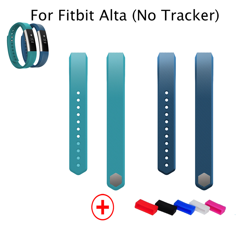 2pcs Blue Lake Blue Replacement Accessory Wristband with Metal Clasp for Fitbit Alta Bands Fitness Activity Tracker(China (Mainland))