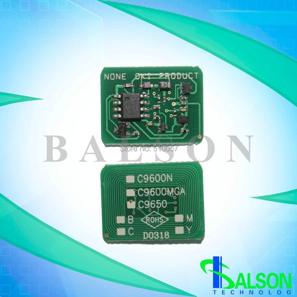 Compatible laser printer chips reset toner cartridge chip for OKI C9655<br><br>Aliexpress
