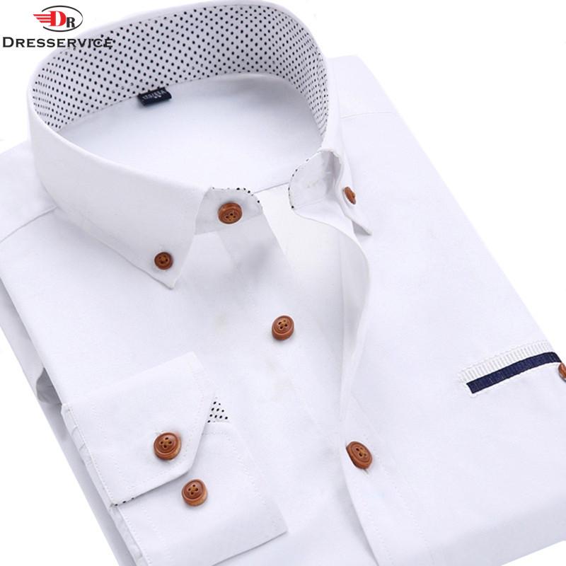 Dresservice 2016 summer style Brand Men Shirt Long-sleeve Slim Fit Casual Shirts Fashion Men Clothing Male(China (Mainland))
