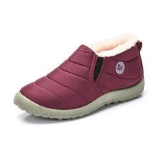 Size Lớn 35-44 Sang Trọng Nữ Giày Nữ Mùa Đông Cặp Đôi Unisex Ủng Lông Ấm Áp Boot Casual Nữ Slip On mẹ Mùa Đông Giày WSH3139(China)
