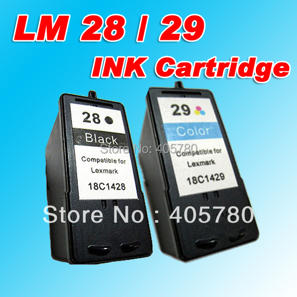 LM 28 / LM 29 INK cartridge compatible for 18C1528/18C1529/Lexmark X5070/Z1300/Z845/X2500MFP freeshipping+<br><br>Aliexpress