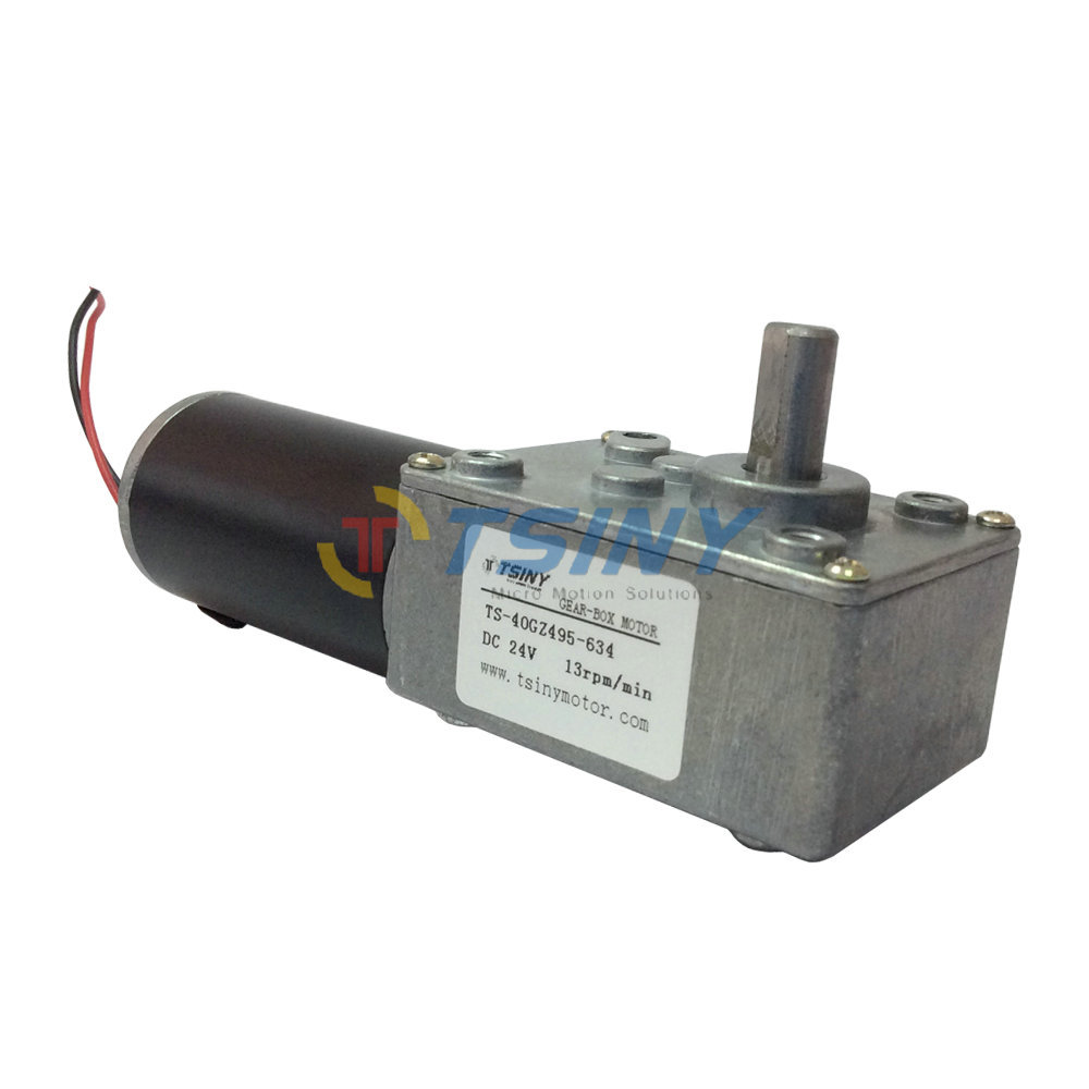 24Vdc/13rpm DC Geared Motor With Reduction Gearbox,Electric Worm Motor,Free Shipping(China (Mainland))