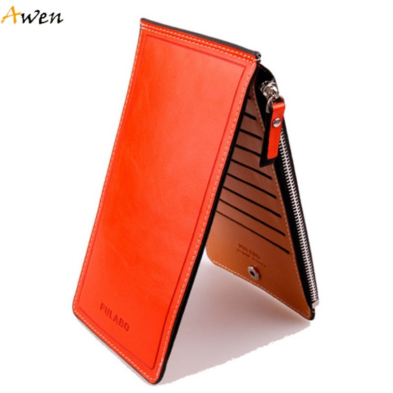 Awen - Hot Sell New Fashion Long Design Waxy Leather Women Wallets,Ultrathin Leather Wallets For Women,Vintage Carteira Feminina(China (Mainland))