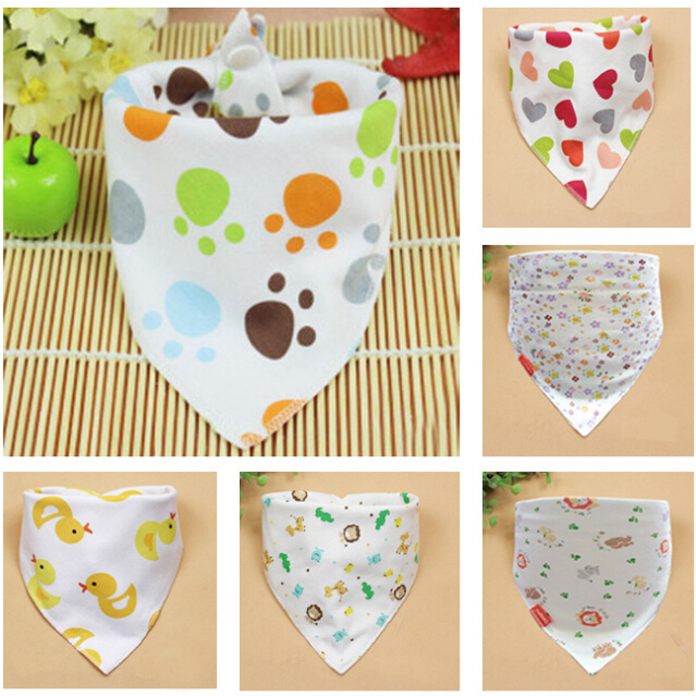 2015 New Baby Bib Infant Saliva Towels Baby Accessories Bibs Newborn Wear Cartoon Style Head Scarf