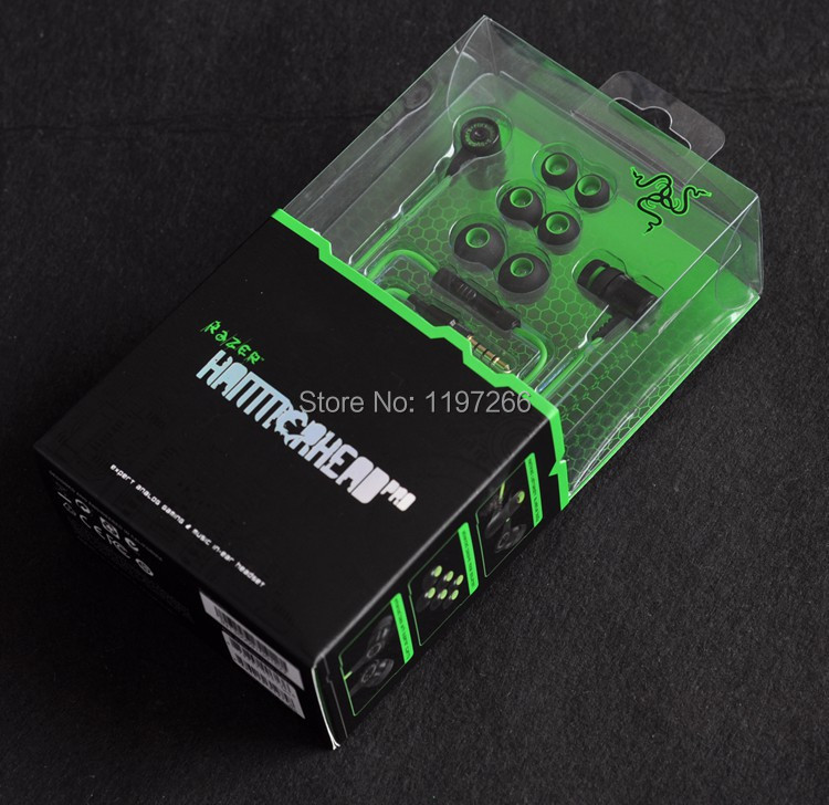 100% Brand New Razer Hammerhead Pro Headphones In Ear Earphone With Microphone With Retail Box Stereo Bass Gaming Headset