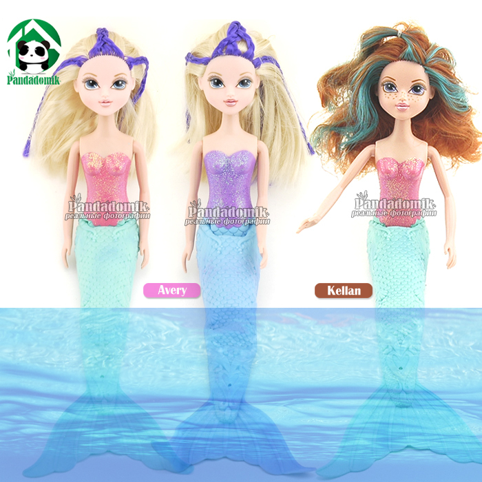 Moxie Girlz Swimming 15 inch Mermaid Doll Battery Operated Magically Changes Color 38 cm Bath Toys Free Gift Packing(China (Mainland))