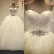 Livraison gratuite 2016 nouvelle arrivée de mariée blanc / ivoire robe de mariée robe de mariée sur mesure taille 4 6 8 10 12 14 16 18(China (Mainland))