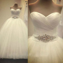 White/Ivory sweetheart Wedding Dress bridal Gowns