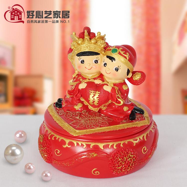 Arts and wedding jewelry box genuine kindness hi baby gift wedding room Decoration storage Couple jewelry boxes(China (Mainland))