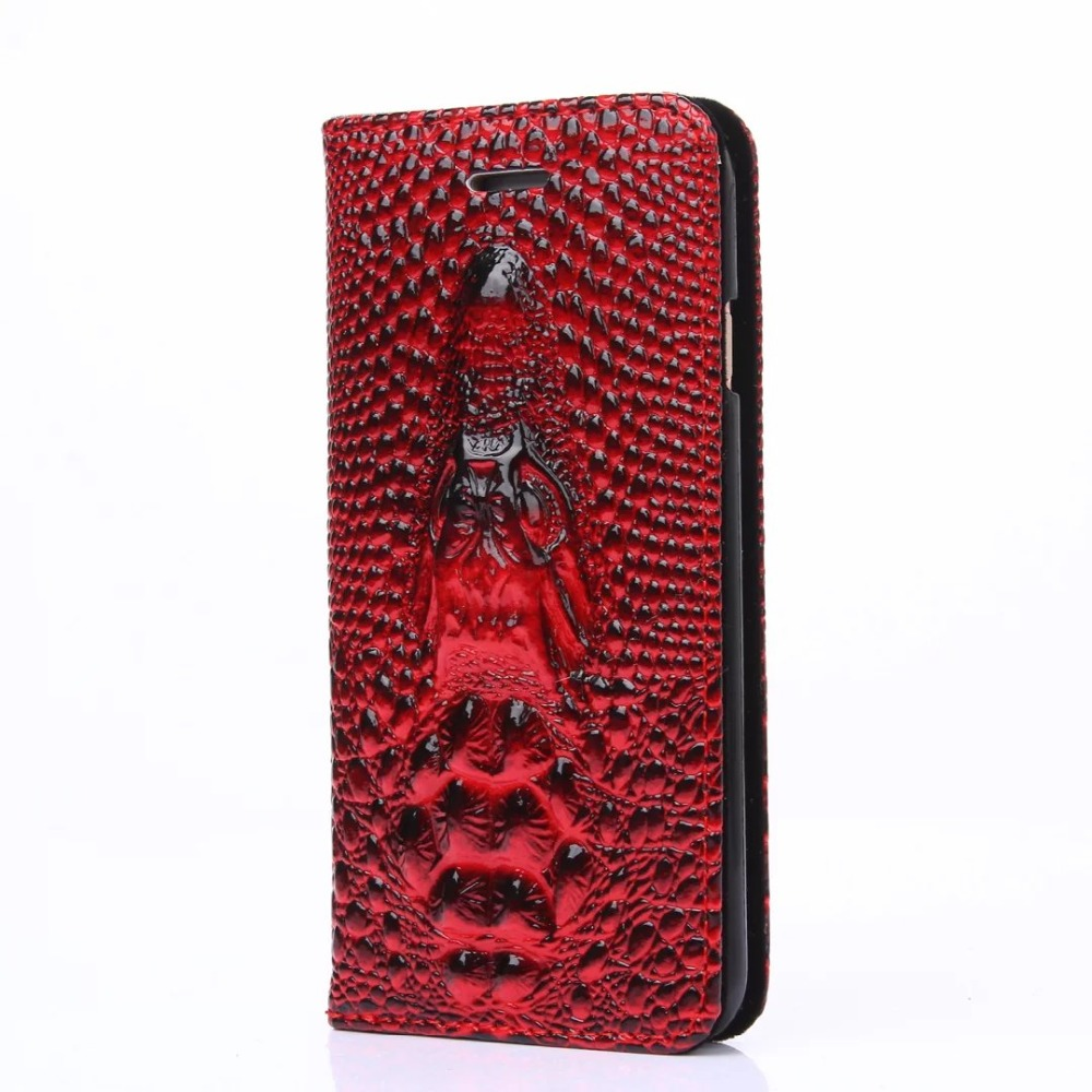 New Arrival Luxury 3D Croc Crocodile Pattern Leather Case for Apple iphone6s plus Case 5.5inch Flip Real Cow Leather Cover Case(China (Mainland))