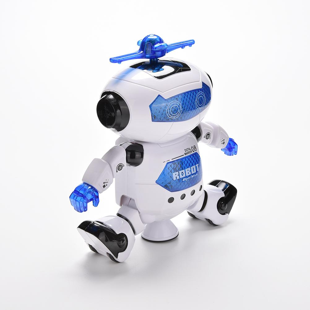 Rotation Smart Space Electric Robot Dancing Music Light Toy Children Gifts 360 Degree(China (Mainland))