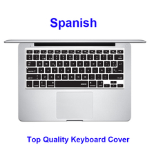 XSKN Brand Spanish Silicone Soft Keyboard Cover Skin for apple MacBook Pro air 13 15 17, Factory Supply,US Stock 10 days to USA