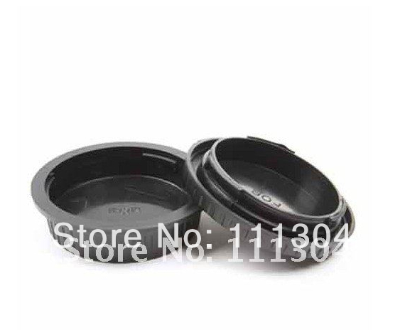 free shipping+ tracking number Rear Lens Cap / Cover+Camera Body Cap for CANON EOS<br><br>Aliexpress