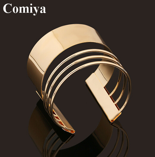 European and American style fashion bangles arm cuff gold plated punk personality bangle trendy jewelry bracelets for women(China (Mainland))