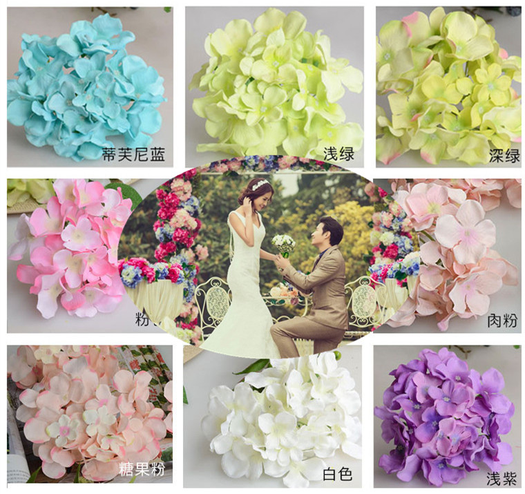 Wedding Artificial Hydrangea Silk Flower Table Centerpieces Decorative Flower Wedding Arch Garland Decoration(China (Mainland))