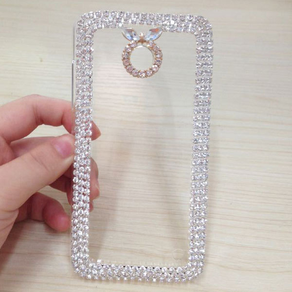For Nokia 6300 Cheap Phone Case Plastic Material Cell Phone Bling Crystal Case For Phone Protect Accessories P-151(China (Mainland))