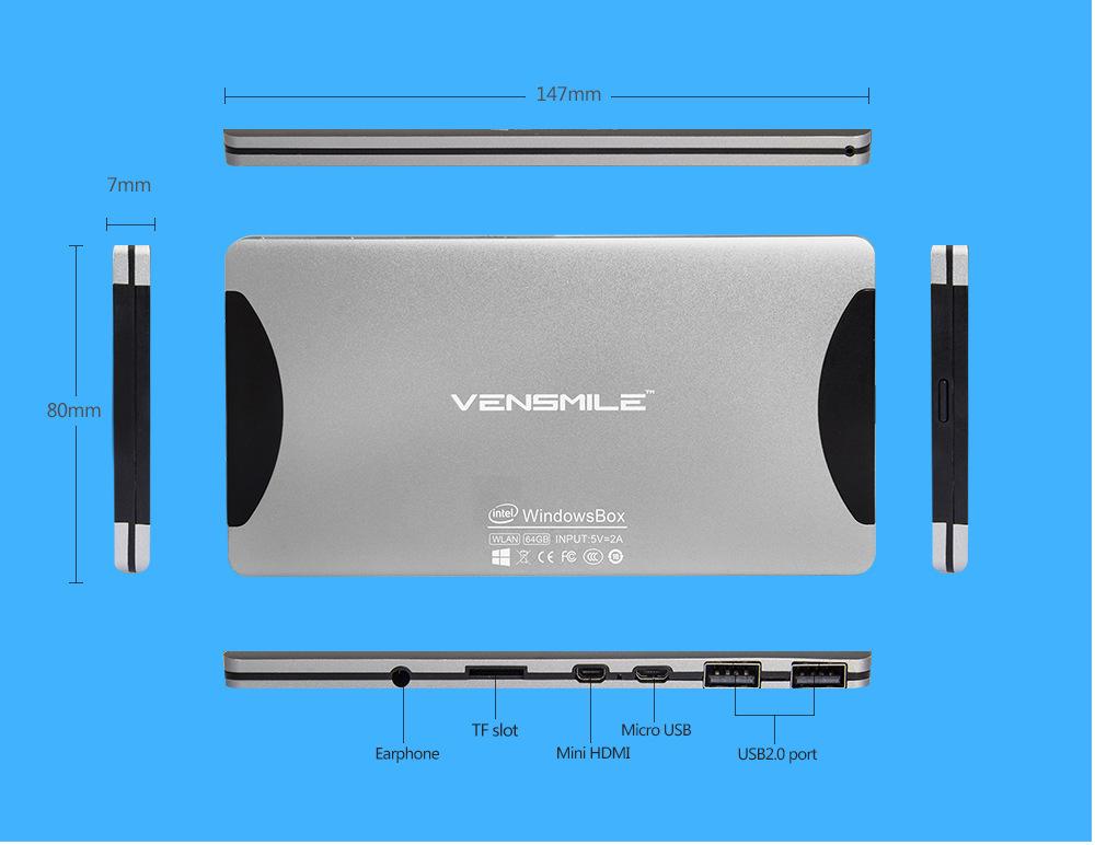 2015 Vensmile mini PC Intel Windows Quad core 2GB RAM 64GB ROM windows8.1 mini pc computer for smart office j22 minii5 bluetooth(China (Mainland))