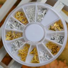 1 wheel Summer Styles Mixed Starfish Eiffel Tower Shape 3D Nail Art Metal Charm 3D Nail Jewelry DIY Decoration Nail Tools ND116(China (Mainland))