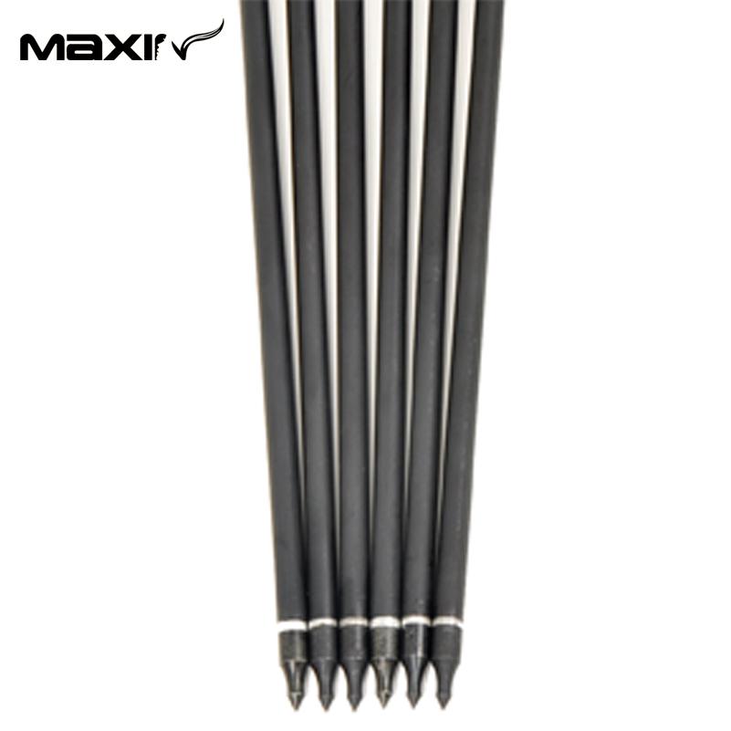 6pcs lot Replaceable Arrowhead 30 75cm Archery Carbon Arrows Suppliers Mixed Carbon Spine 500 for compound