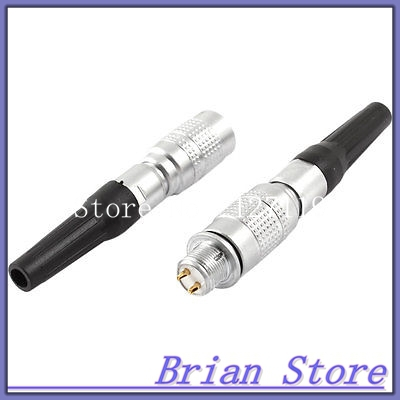 DC 30V 0.2A 2 Pin Rubber Tube Quick Butt Joint Cable Aviation Connector Plug(China (Mainland))