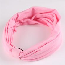 New Cotton Elastic Sports Headband Wide Turban Headbands for Women HA072(China (Mainland))