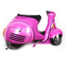 Бесплатная доставка 1 шт. Новая горячая мультфильм мотоцикл игрушка шар день рождения шары оптом детские self-sealing