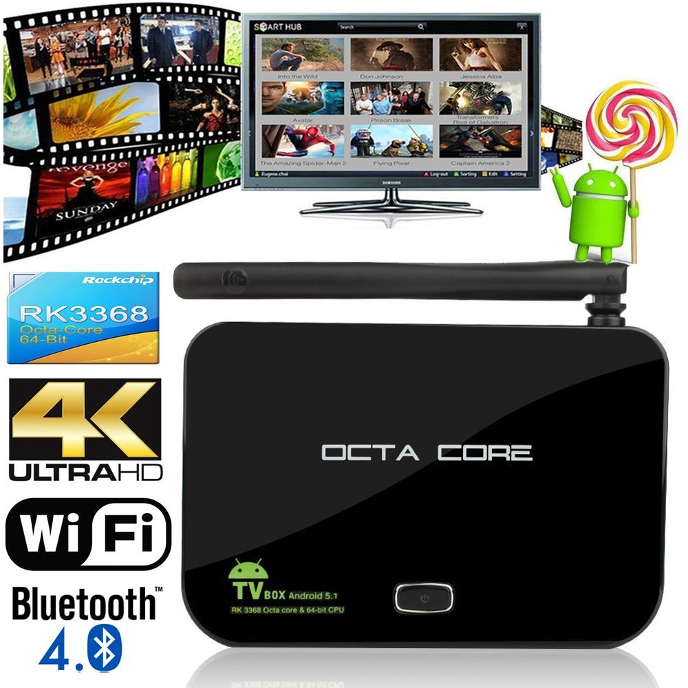 2015 New High-End Z4 Android 5.1 OS Octa Core RK3368 Smart TV Box 2GB/16GB HDIM 5G Wifi 4K KODI XBMC Fully Loaded Media palyer(China (Mainland))