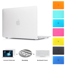 "Free Shipping Matte Case New Air 11 Air 13 Pro 13 Pro 15"" New Retina 12 13 15 for macbook Keyboard Cover+Screen Protector"
