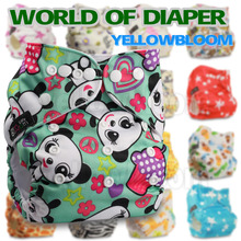Baby Washable Reusable Nappy Birth to Potty One Size Real Cloth Pocket Nappy Diaper Cover Wrap Inserts Available Suit 3-15kg(China (Mainland))