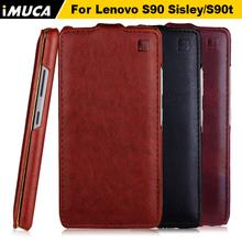 IMUCA brand luxury leather flip case for Lenovo s90 case cover for Lenovo S90 sisley S90t original mobile phone bags cases