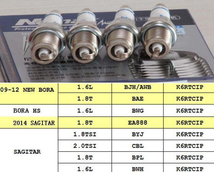Replacement Parts Platinum iridium spark plugs for volkswagen BORA sagitar 1 6L 1 8T 1 8TSI