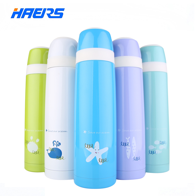 Haers Vacuum Tumbler Unbreakable Stainless Steel Insulated 2015 New Thermos Cup Easy to Use LB-500A-8(China (Mainland))
