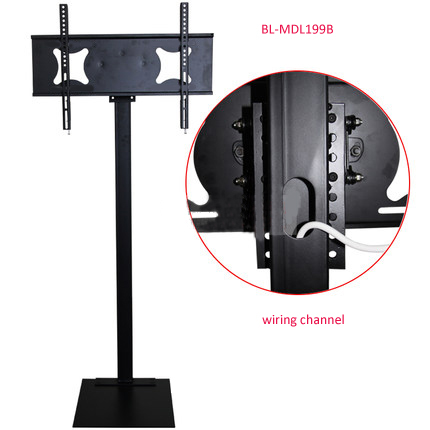 32-70 inch LCD LED Plasma Monitor TV Mount Floor Stand Tilt Swivel AD Display Wire Management Height Ajustable(China (Mainland))