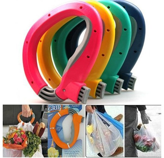 Home One Trip Grips for Shopping Grocery Bag Holder Handle hand folding Foldable bag Carrier Lock Kitchen Tool gift baskets(China (Mainland))