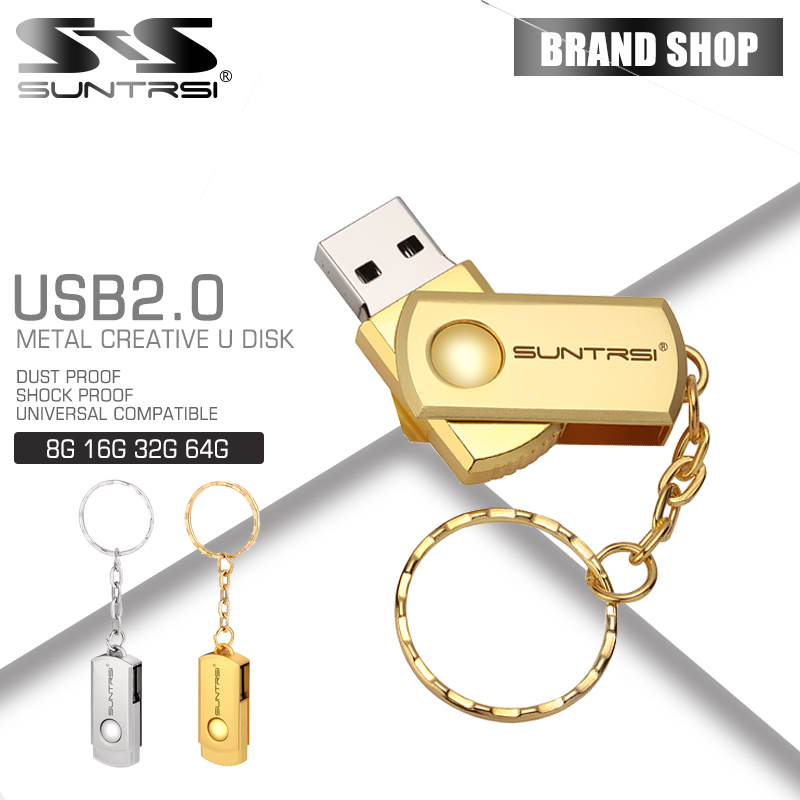 Suntrsi USB Flash Drive Suntrsi Metal Pen Drive 64gb 32gb 16gb Memoria usb stick pendrive 8gb 4gb Swivel flash drive Free ship(China (Mainland))