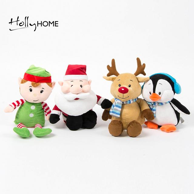 HollyHOME Мягкие Чучела Животных Рождество Пингвин, Санта, Эльф, Лося Плюшевые игрушки, 9.8 дюйм(ов), Childen Подарки На День Рождения, средний