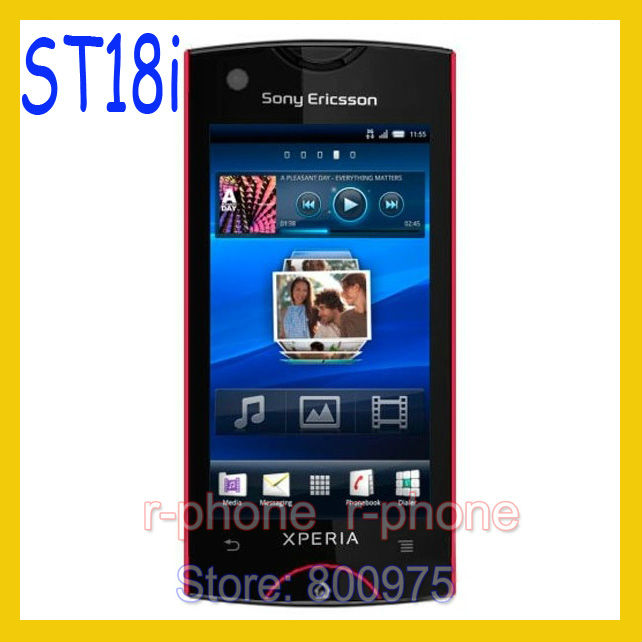 ST18i Original Sony Ericsson Xperia Ray Mobile Phone St18i Red 8MP GSM 3G WIFI GPS Bluetooth Unlocked & Gift(China (Mainland))