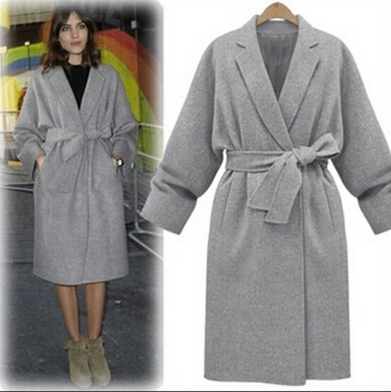 Images of Grey Wool Coat - Reikian