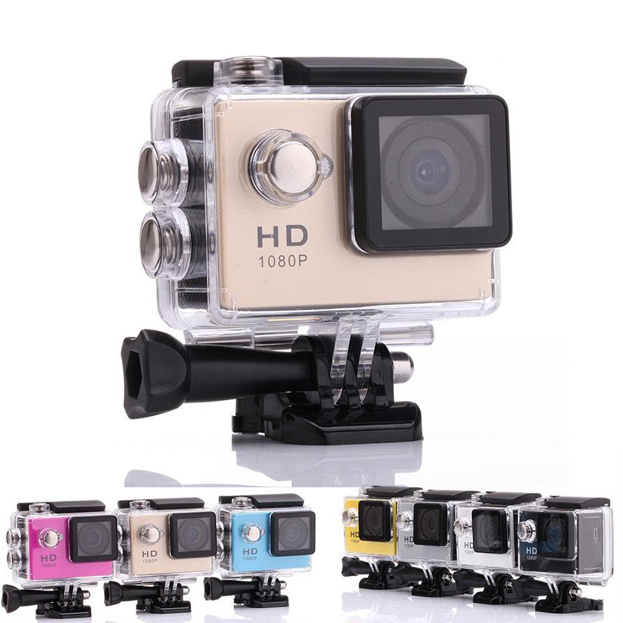 Hot Waterproof HD 1080P Action Video Camera 2 inch Sports Photo Digital Camera Underwater 30M Video Mini Camcorders(China (Mainland))