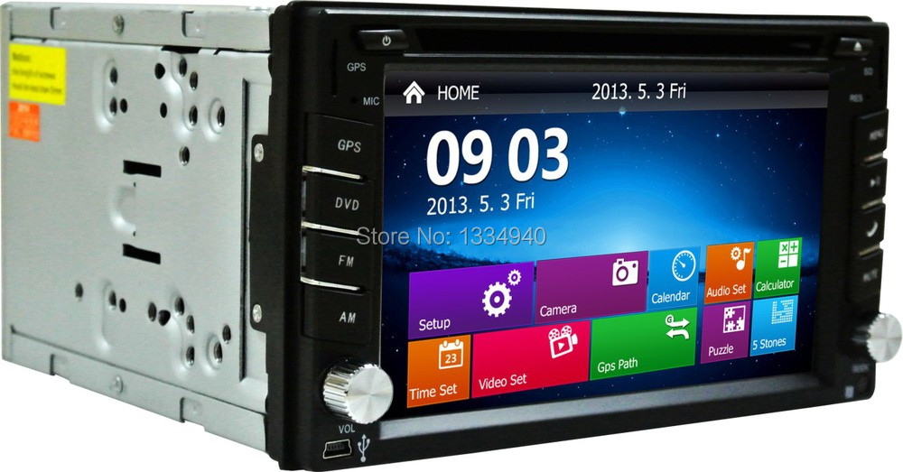Car DVD GPS Navigation 2DIN Car Stereo Radio Car GPS Bluetooth USB SD Universal Interchangeable Player